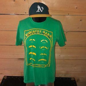 Oakland A's Mustache Gang T-shirt. Size M.